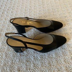 Chanel slingback size 36.5 brand new black